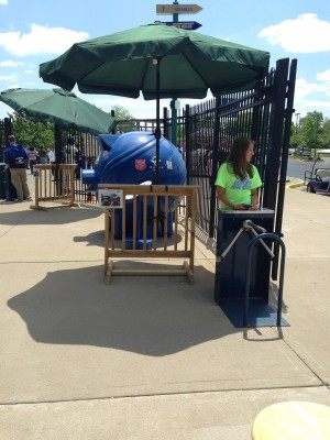 Check out the shade provided by ShadeMount at our local baseball stadium
