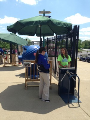 ShadeMount provided portable deck rails to give staff some much need shade